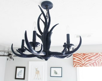 Modern Antler Chandelier - You Choose the Color!
