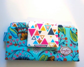 Blue and Pink Triangles Wallet