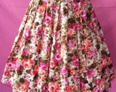 Adorable 1950s Floral Bouffant Skirt