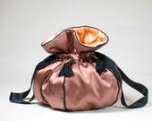 Opera Bag of Rose-Coloured Silk