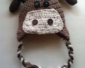Darling crochet Moose beanie/hat