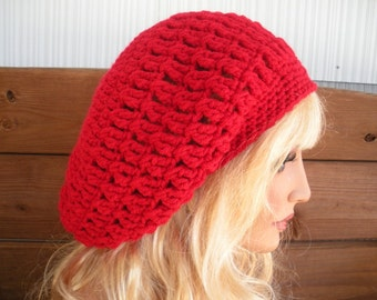 Womens Hat Crochet Hat Winter Fashion Accessories Women Beanie Slouchy Hat Oversized Slouchy Hat in Red - Choose color