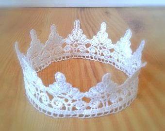 Lace Crown Baby Photography Prop Newborn Toddler Princess