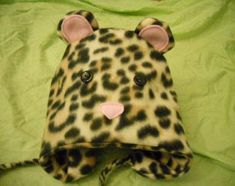 Adult fleece animal hat