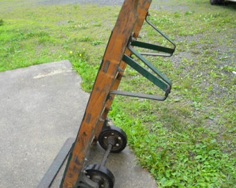 good solid shape big heavy duty antique vintage INDUSTRIAL age warehouse HAND TRUCK dolly pick up only
