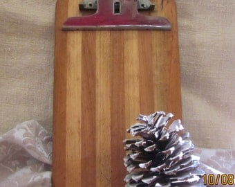 Vintage MidcenturyOffice   Unique  Mixed Woods Clipboard - For Dad, Fathers Day, Vintage office, Industrial decor, Unique Photo Display