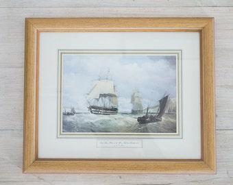 vintage nautical framed print