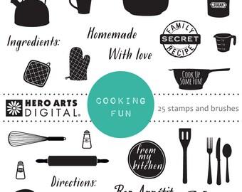 Hero Arts Cooking Fun DK115  Digital Kit Instant Download