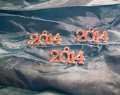 Silver Plated 2014 Charm Pendant Embellishments   DOLLAR ZONE