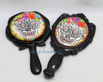 Mirrors skull handmade day of dead