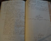 Circa 1776 Ledger Hand Written in Old Language