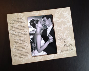 First Dance Gift Wedding Keepsake Wedding Gift Personalized Wedding Gift  Bride and Groom Anniversary Gift Wood 4x6 Picture Frame