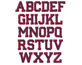Varsity Font Machine Embroidery Designs-INSTANT DOWNLOAD