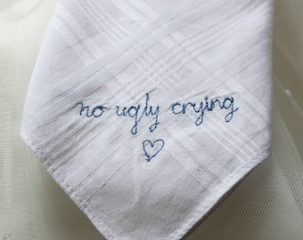 Wedding favour No Ugly Crying Handkerchief