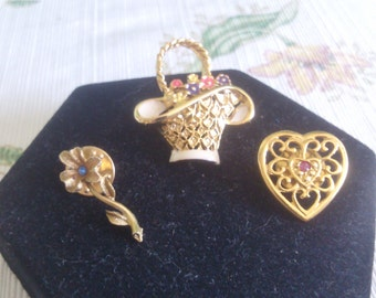 Lovely Push Pins for Coat or Hat Sold Separately or Together