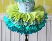 PO - Anniedollz Handmade Blythe Petals Dress - Mint