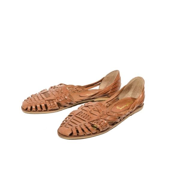 Wonderful Womens 781 Boho Flip Flops Style Genuine Leather Huarache Sandal Brown
