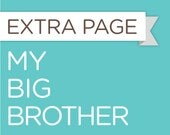 My Big Brother - Extra Sheet for the Baby Steps Book