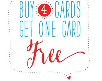 Buy any 4 cards, Get one card free! Letterpress Cards set. Sets of cards. Card set for All occasions. Father's Day card Birthday card