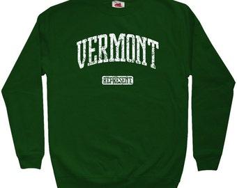 Vermont Represent Sweatshirt - Men S M L XL 2x 3x - Crewneck Vermont Shirt - 4 Colors