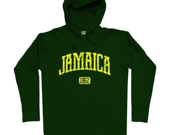 Jamaica 1962 Hoodie - Men S M L XL 2x 3x - Jamaica Hoody Sweatshirt - 4 Colors