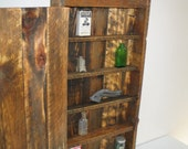 Reclaimed weathered wood Curiosity Cabinet