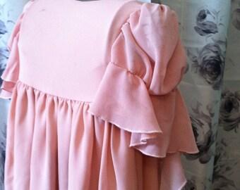 Little girl peach dress 4T