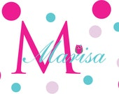 Monogram Decal - Name decal - Personalized Camp Trunk decals - teen decals - wall decals - camp trunk decals - vinyl wall decals