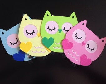 Owl die cuts/Cupcakes toppers/Centerpieces