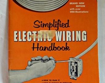Handyman Sears Electrical Wiring Handbook Simplified 1960 Vintage