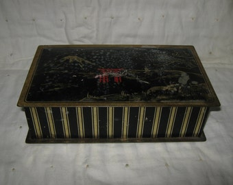 Candy Tin With Lid Canco Beautebox Oriental Scene