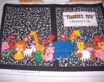 cloth storybook panel to make-Teacher's Pets