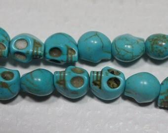 Howlite skull Beads Gemstone Beads Jewelry Making Supplies