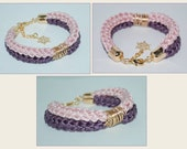 Nautical accessories, Cotton Cord Bracelet, Cotton Double Rope Bracelet, Eco-fridendly Bracelet, Cotton Rope Bracelet, Wineberry, Mauve