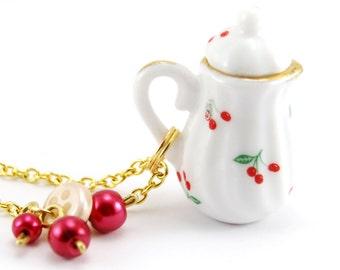 Miniature Teapot Necklace, Teapot Jewelry