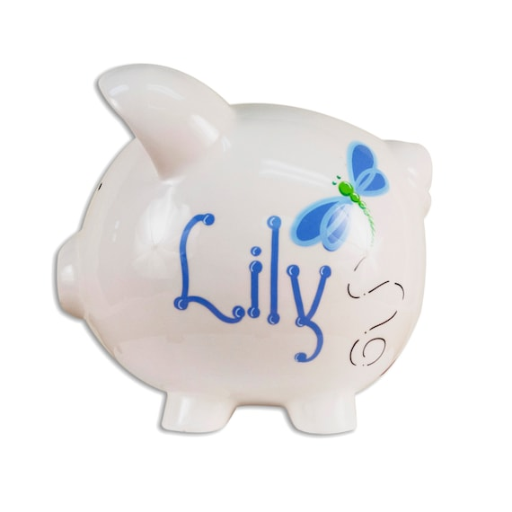 Items similar to kids personalized piggy bank coin bank for baby boys girls hand painted - Coin banks for boys ...