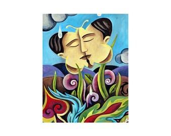 PRINT 8x10    BUTTERFLY KISS   by Elizabeth Rosen