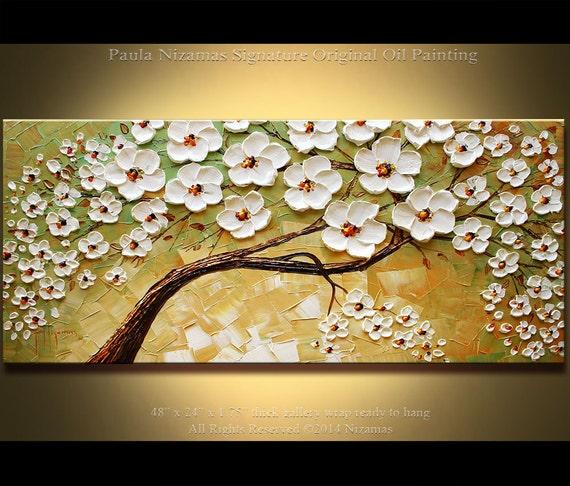 Peinture abstraite moderne peinture l 39 huile couteau for Peinture abstraite moderne