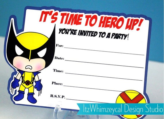 Superhero Invitation with great invitation example
