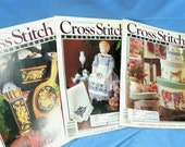reserved 3 Cross Stitch & Country Craft Magazines, patterns/graphs