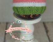 Watermelon knot hat