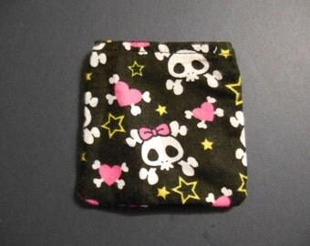 Gift Card Holder, Christmas, Holiday, money, check, stocking stuffer,skulls