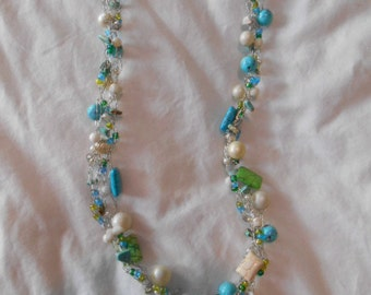 Turquoise Fusion,  Multi Stoned Necklace