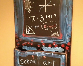 Chalkboard for Child's Room Blue and Red Fun