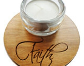 Faith Candle Holder