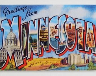 Greetings from Minnesota Fridge Magnet
