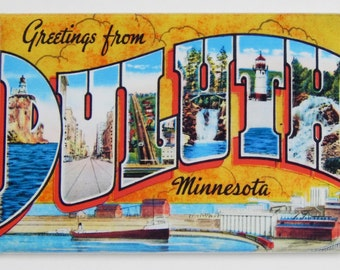 Greetings from Duluth Minnesota Fridge Magnet