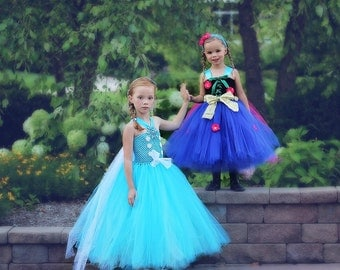 Ice Princess Dress - Gift ideas for Girls - Snow Princess costume - Tutu dress - 3T 4T 5T - Princess Dress for girls - Halloween Costume