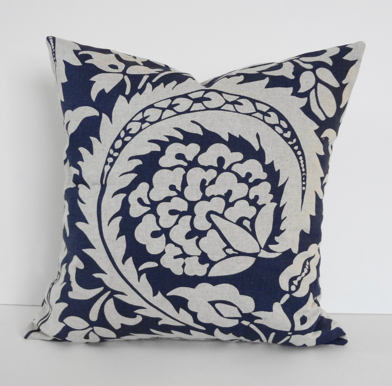 Decorative Pillow Cover Navy Blue Cushion Throw Pillow Dark