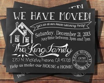 We Have Moved House Warming Invitation